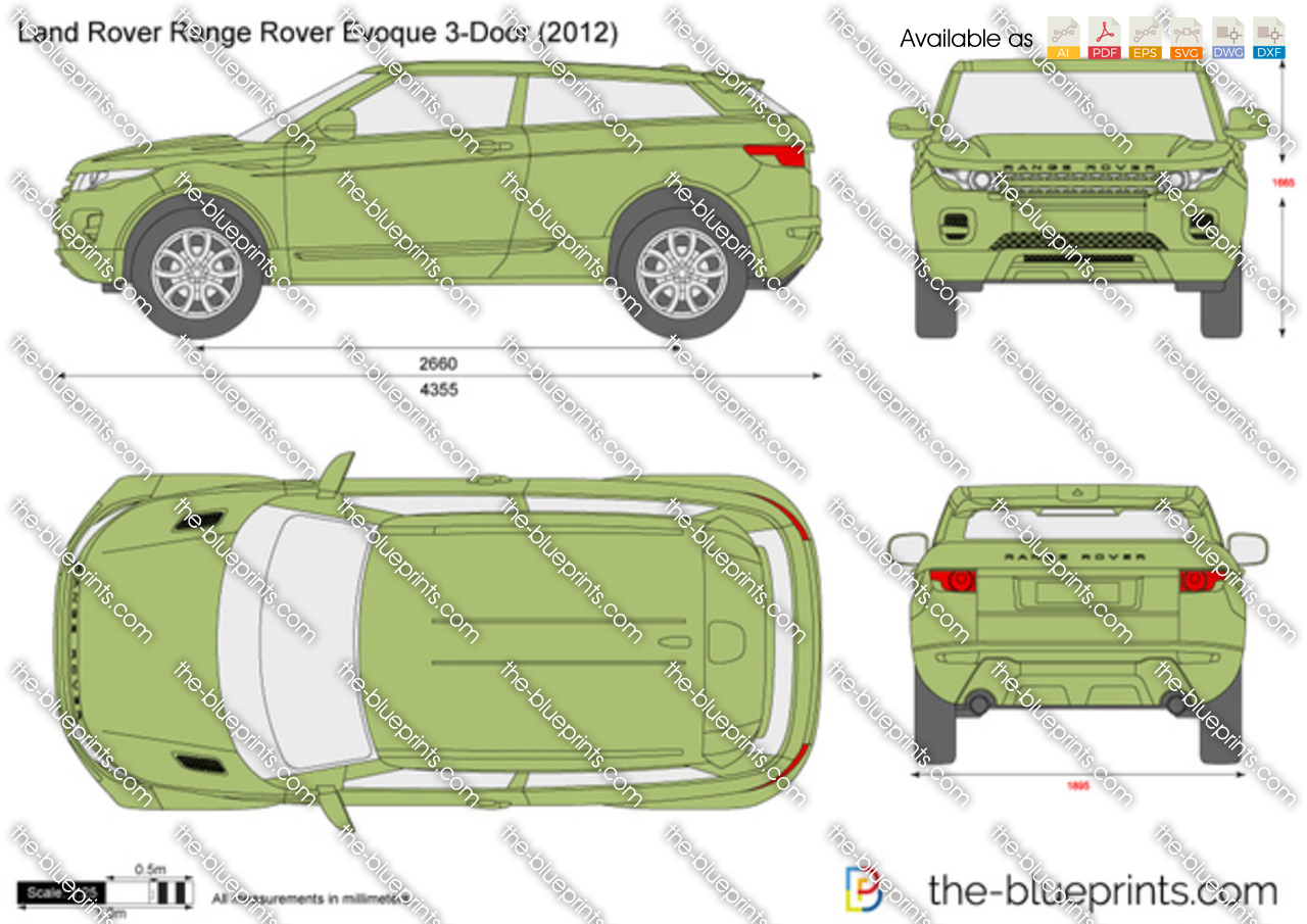 the vector drawing land rover range rover evoque. Black Bedroom Furniture Sets. Home Design Ideas