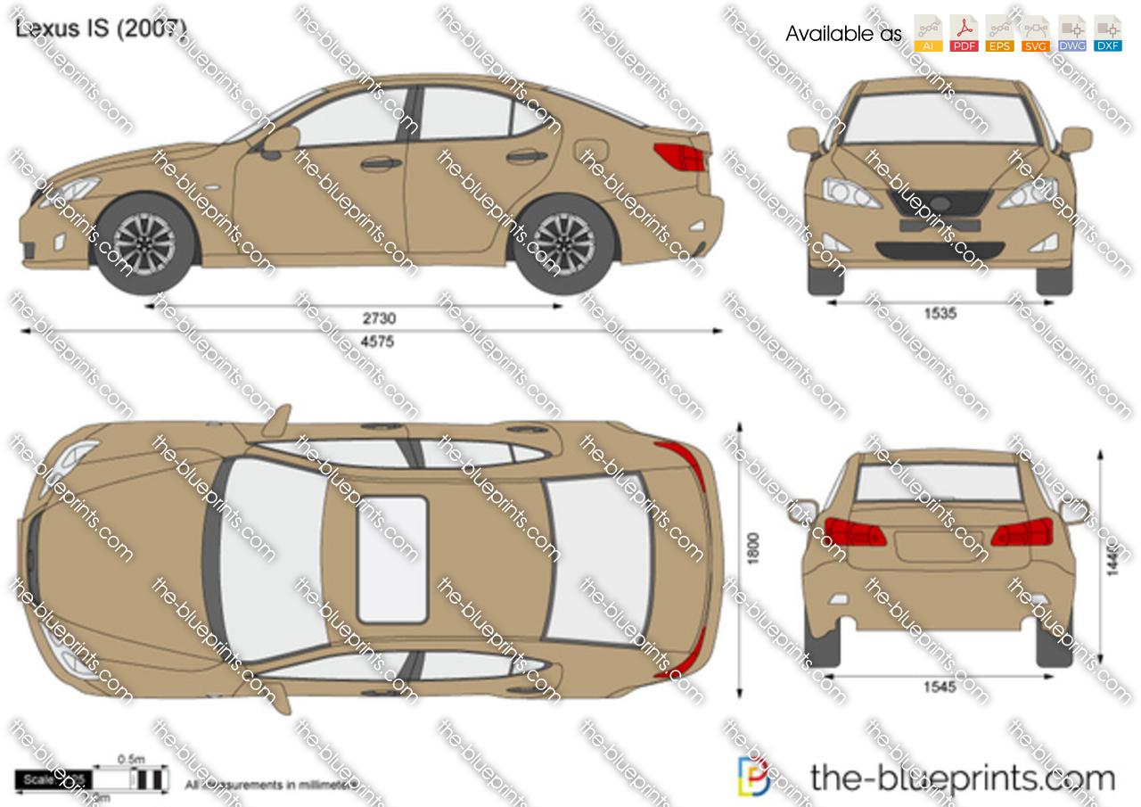 Lexus Is Vector Drawing