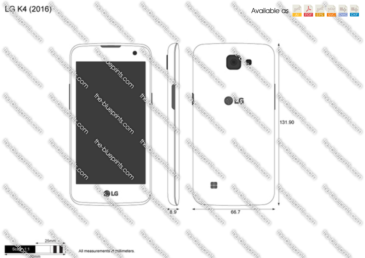 Lg K4 Vector Drawing