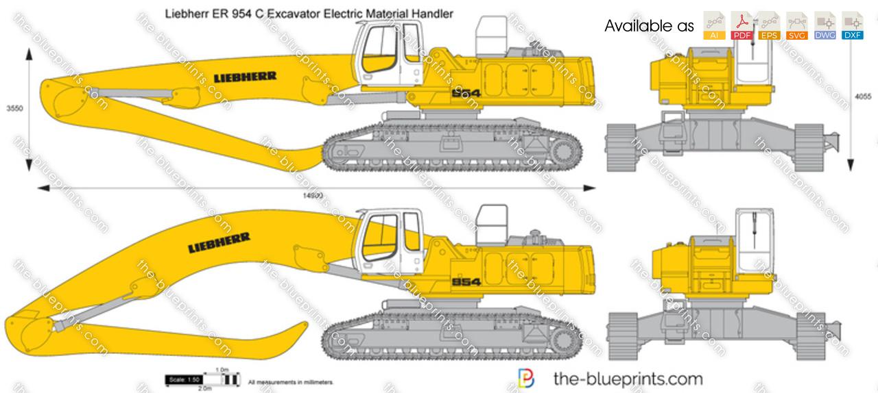 Liebherr ER 954 C Excavator Electric Material Handler