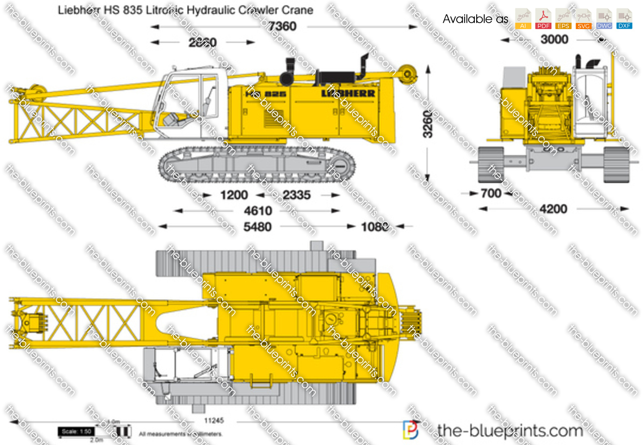 The Vector Drawing Liebherr Hs 835