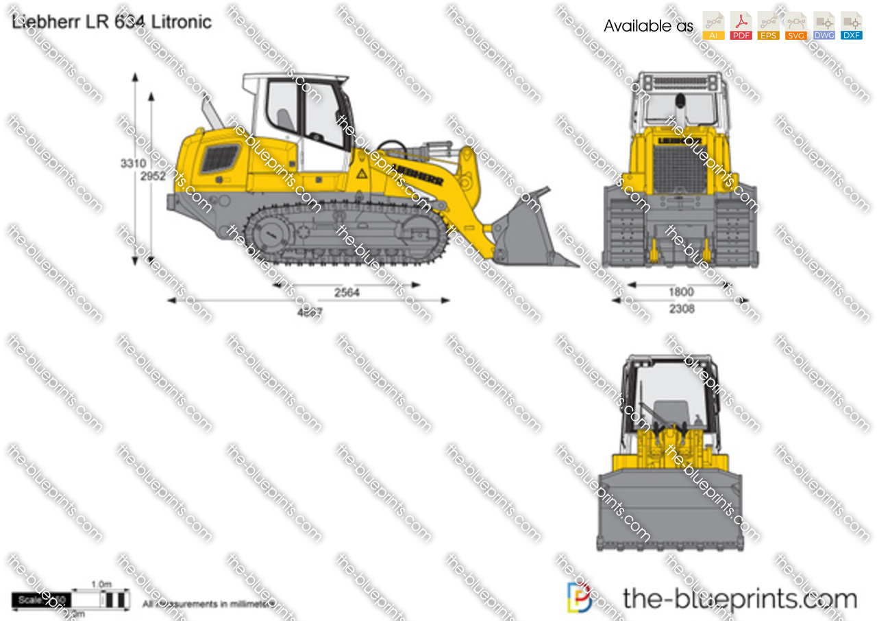 Liebherr LR 634 Litronic Crawler Loader