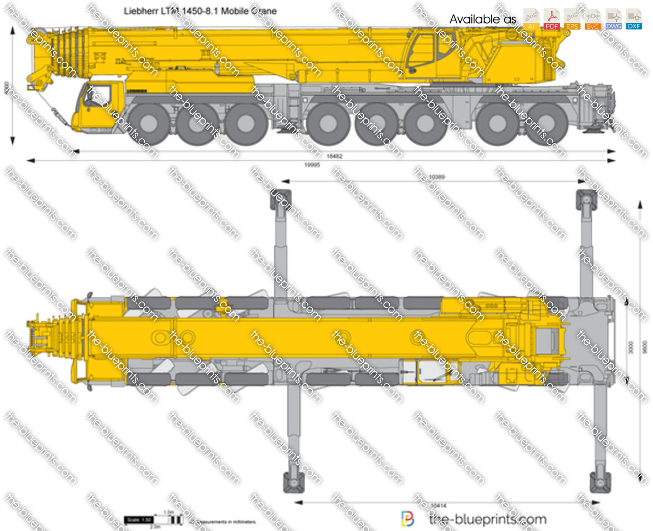 Liebherr LTM 1450-8.1 Mobile Crane