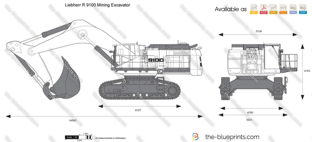 Liebherr R 9100 Mining Excavator