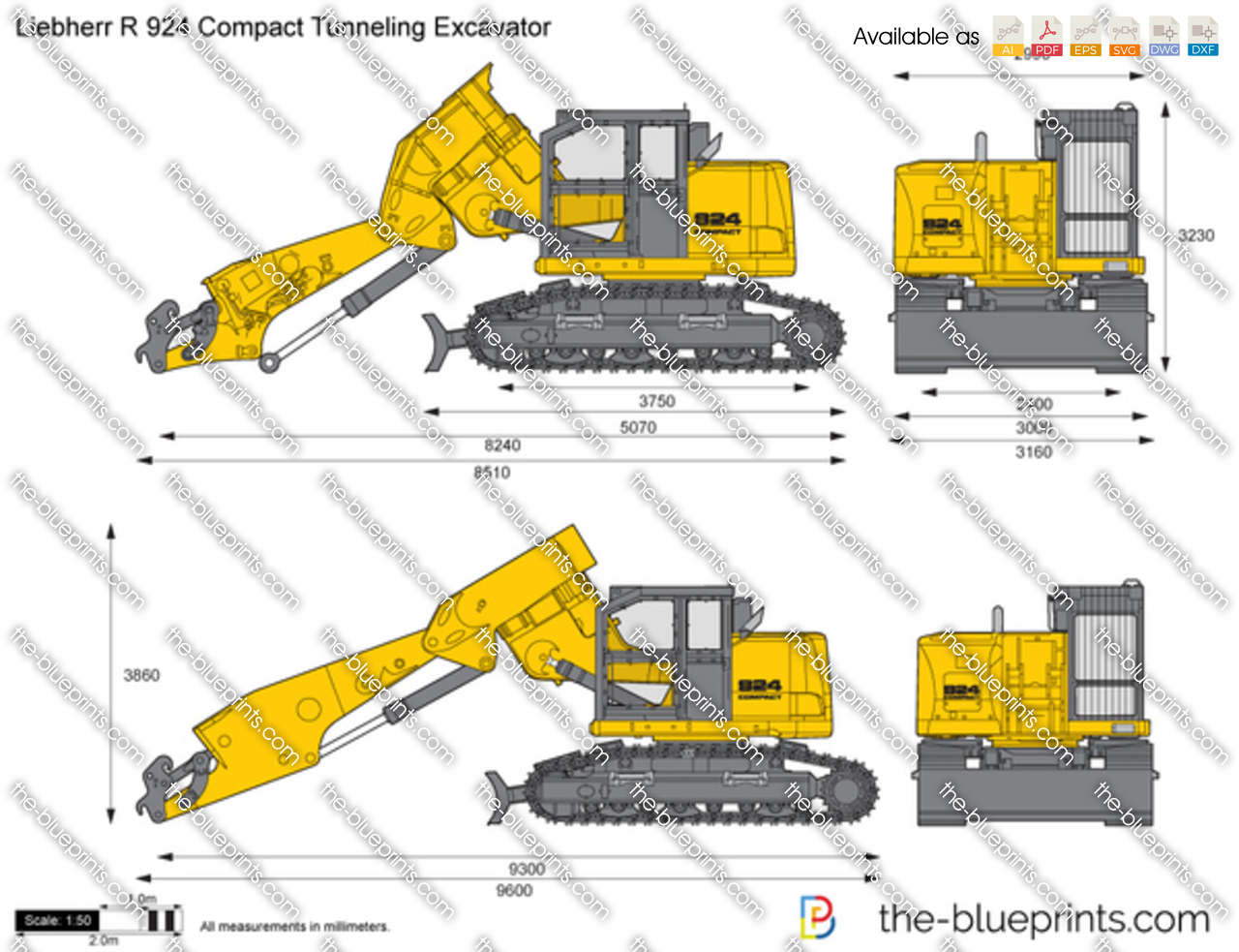 Liebherr R 924 Compact Tunneling Excavator