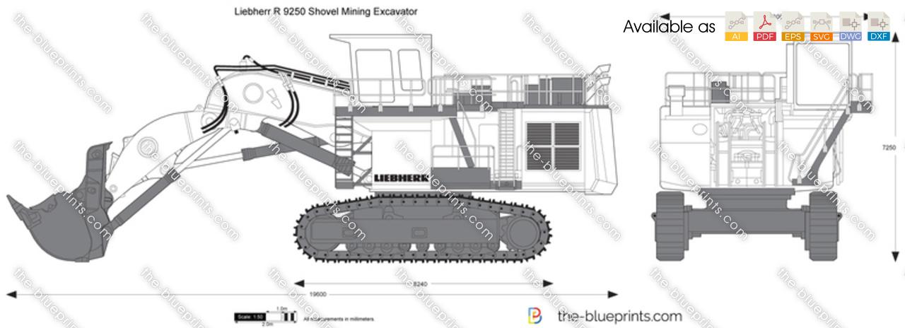 Liebherr R 9250 Shovel Mining Excavator