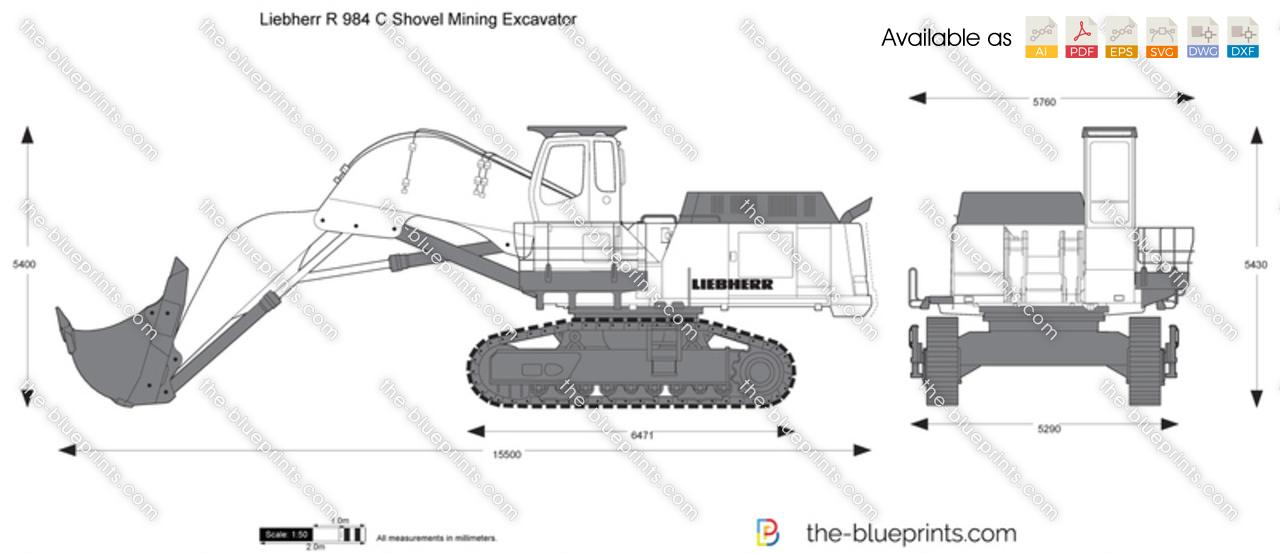 Liebherr R 984 C Shovel Mining Excavator