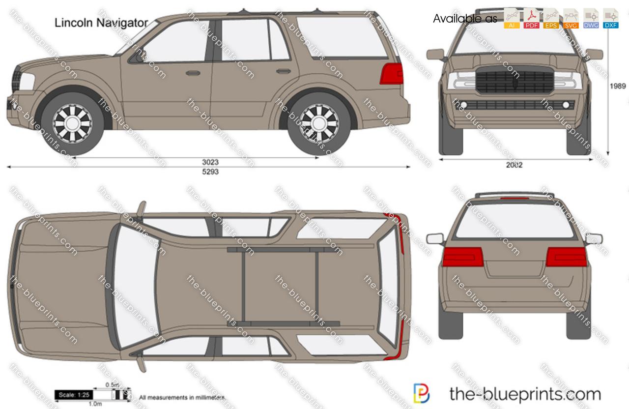 The Blueprints Com Vector Drawing Lincoln Navigator