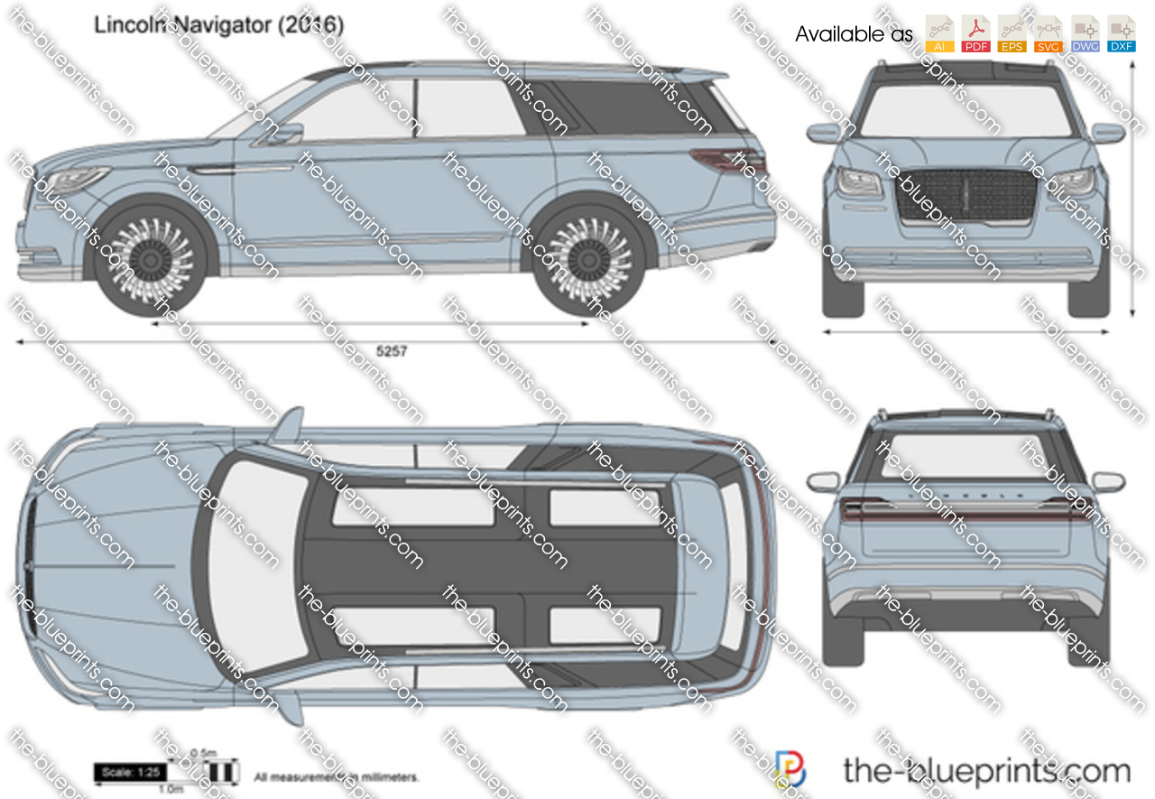 Lincoln Town Car 2017 >> Lincoln Navigator vector drawing