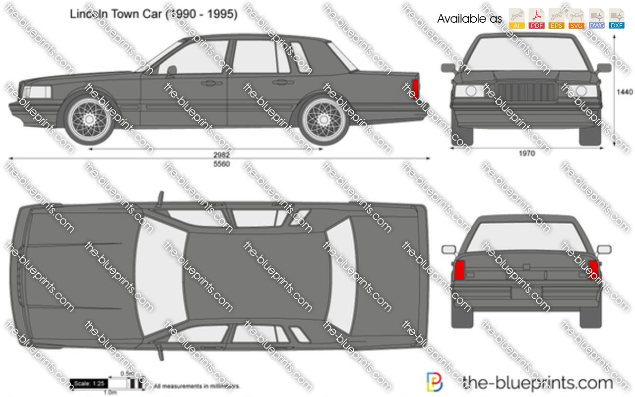 The Blueprints Com Vector Drawing Lincoln Town Car