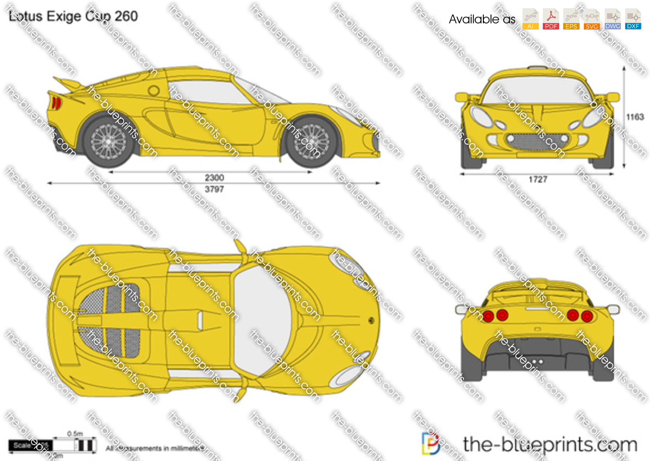 The blueprints com vector drawing lotus exige cup 260