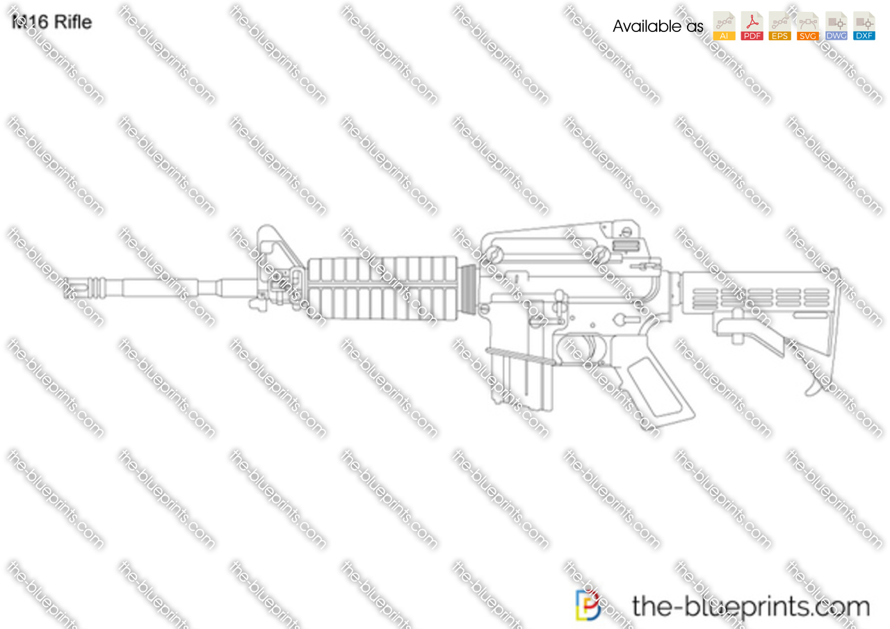 The blueprints vector drawing m16 rifle model years pooptronica