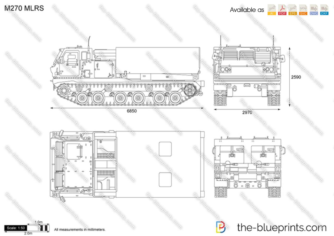 The Vector Drawing M270 Mlrs
