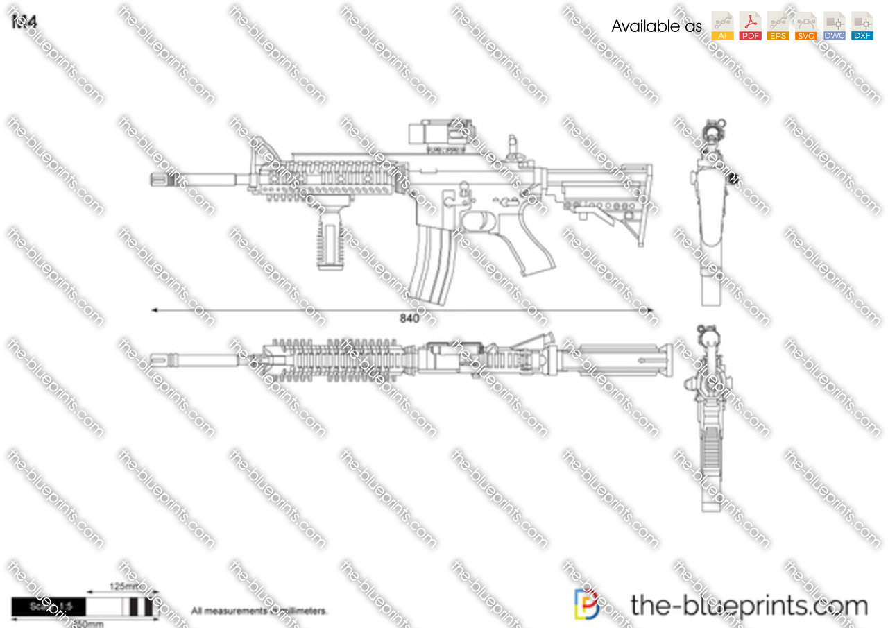 The Blueprints Com Vector Drawing M4