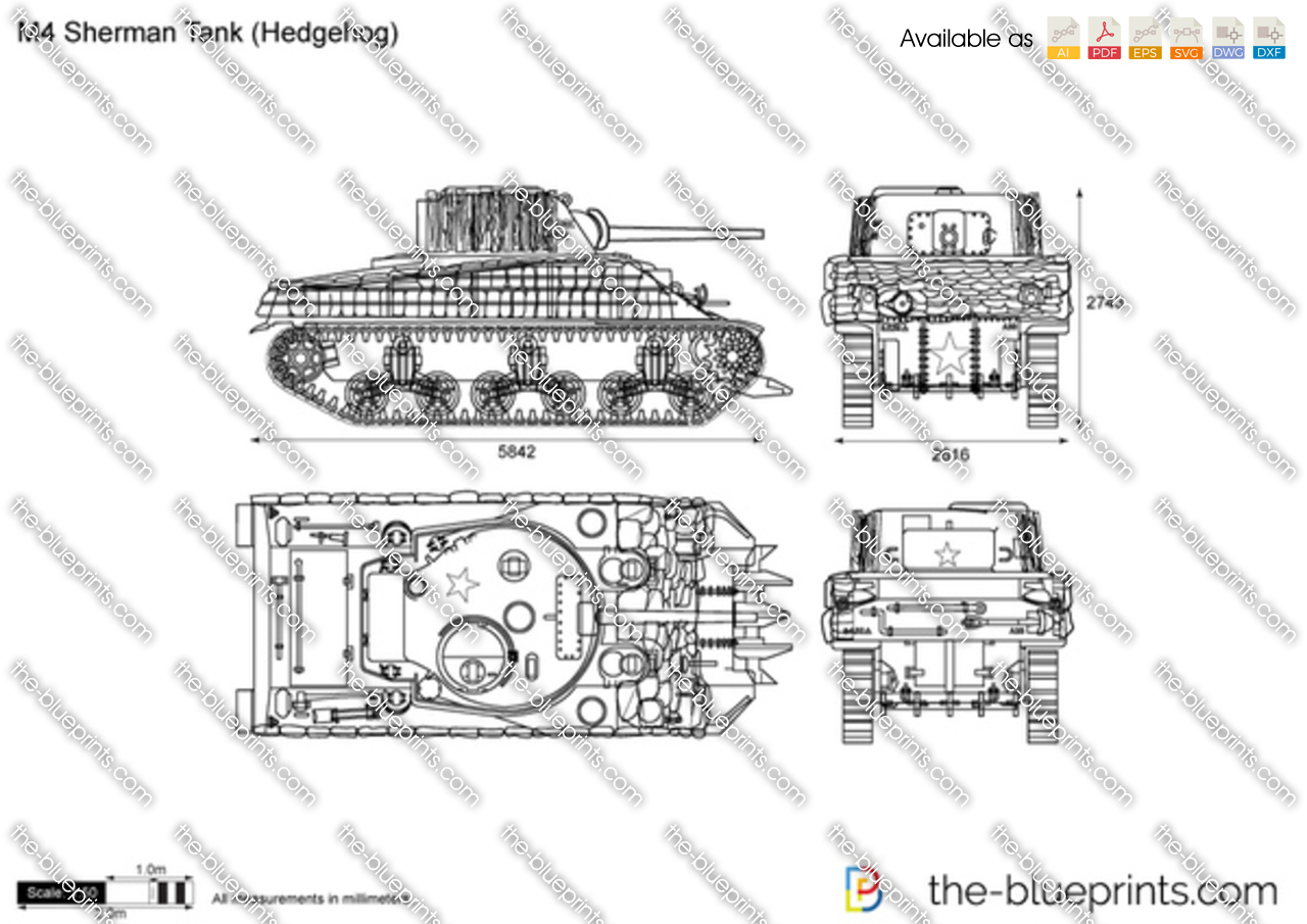 M4 Sherman Tank (Hedgehog) v2
