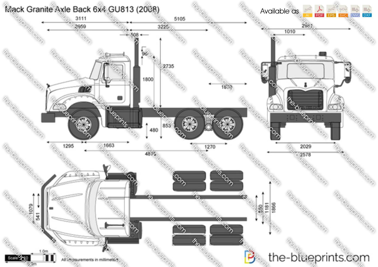 Mack Granite Axle Back 6x4 GU813