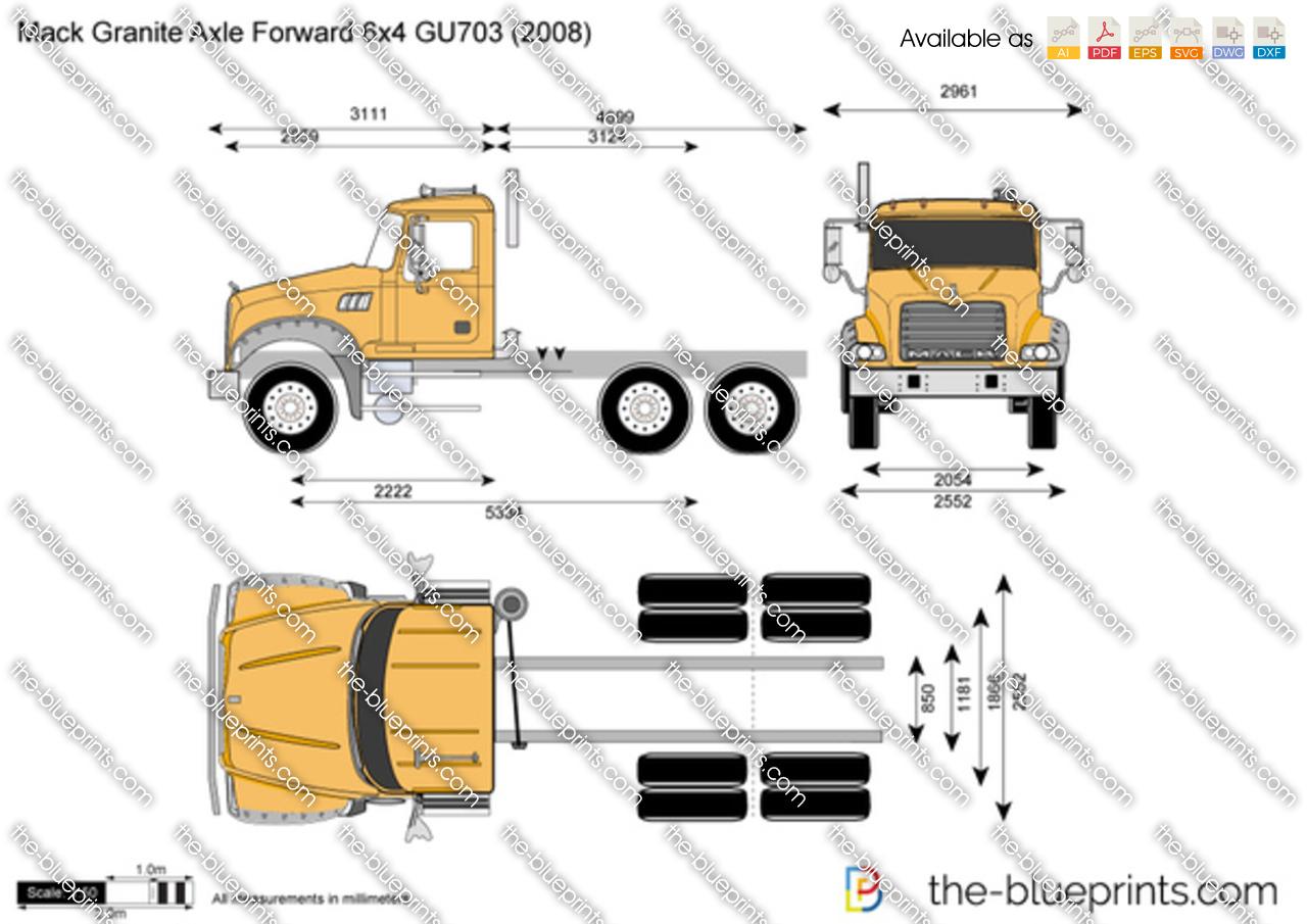 Mack Granite Axle Forward 6x4 GU703