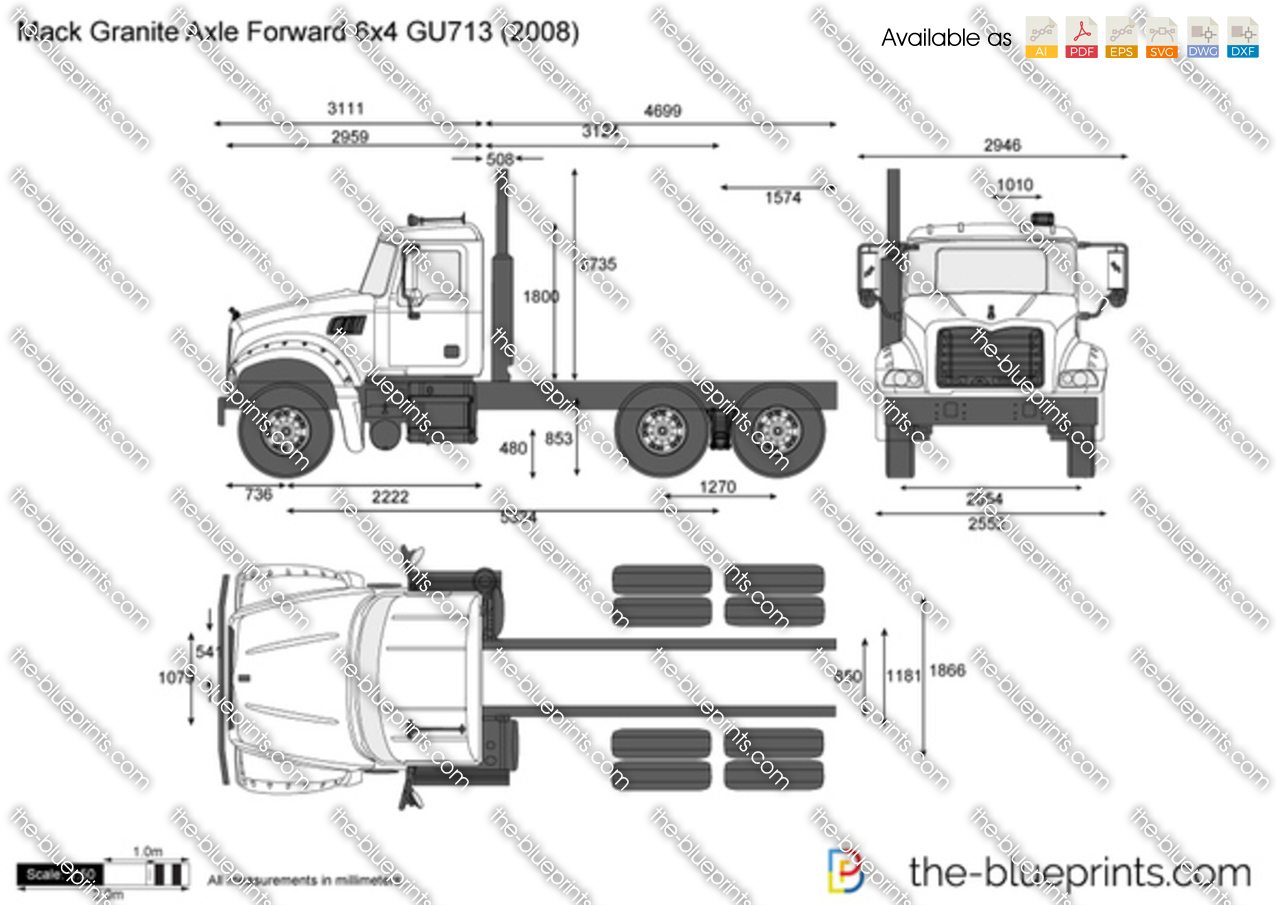 Mack Granite Axle Forward 6x4 GU713