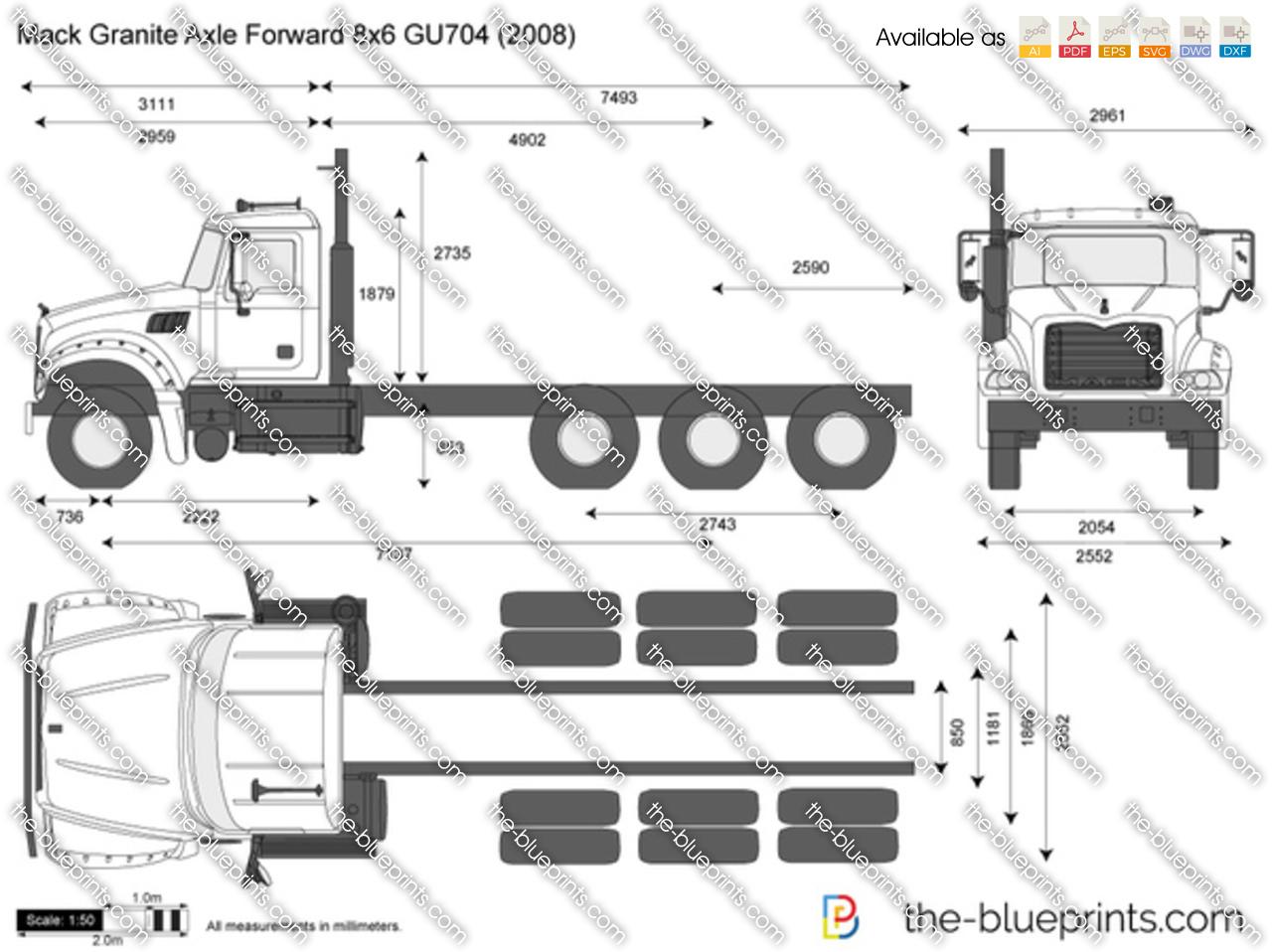 Mack Granite Axle Forward 8x6 GU704