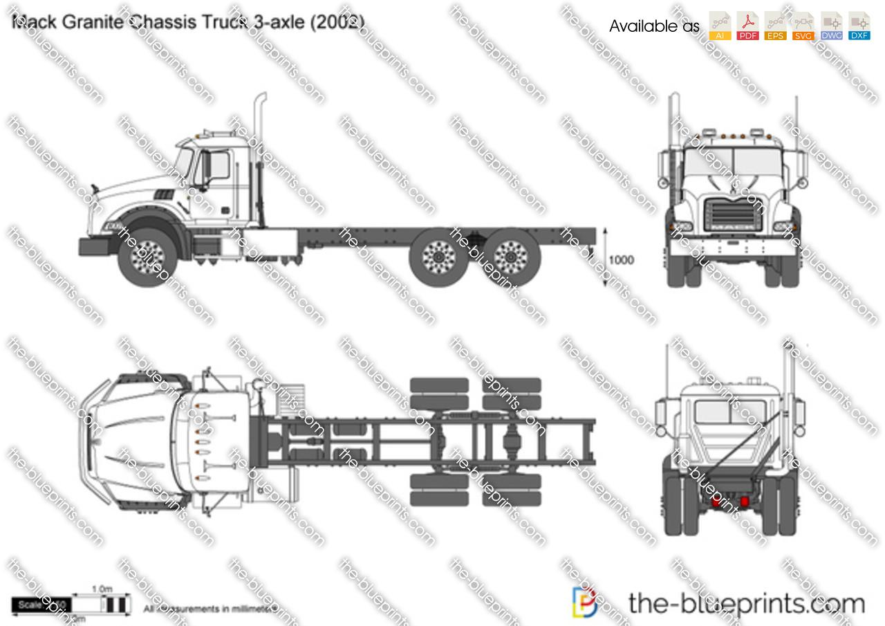 Mack Granite Chassis Truck 3-axle