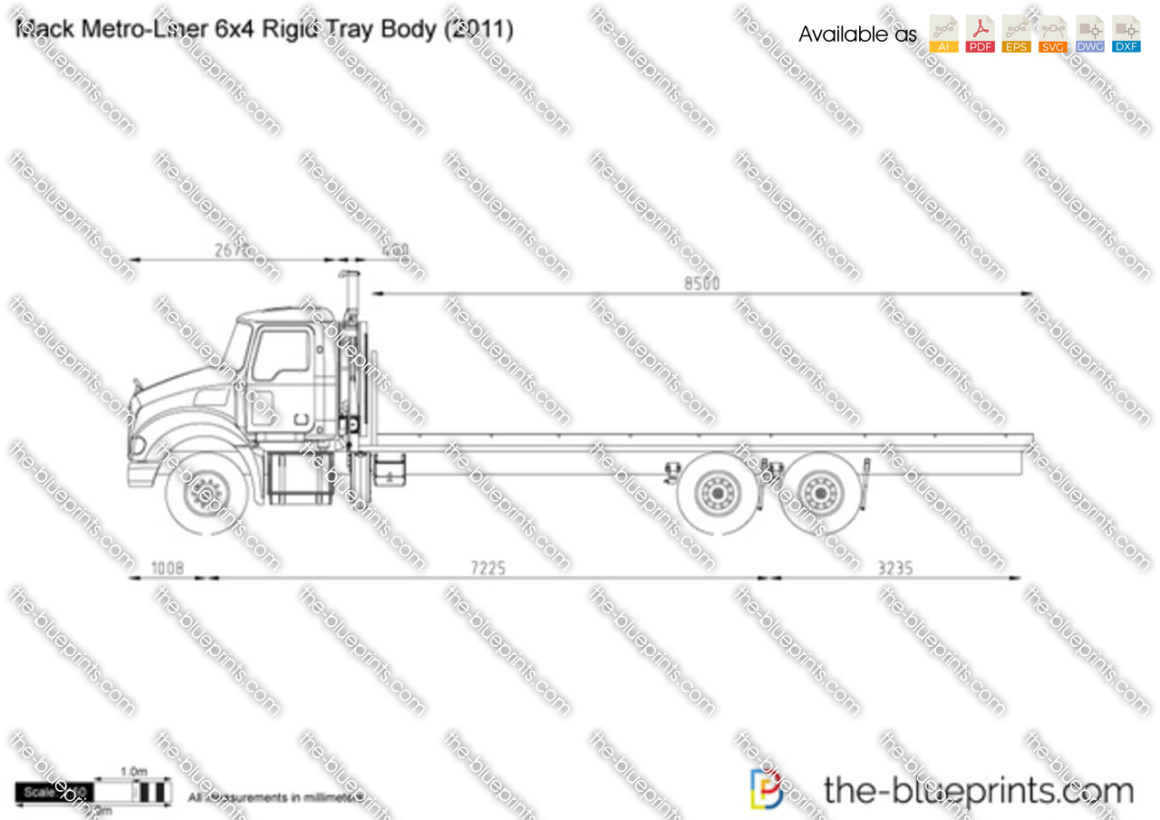 Mack Metro-Liner 6x4 Rigid Tray Body