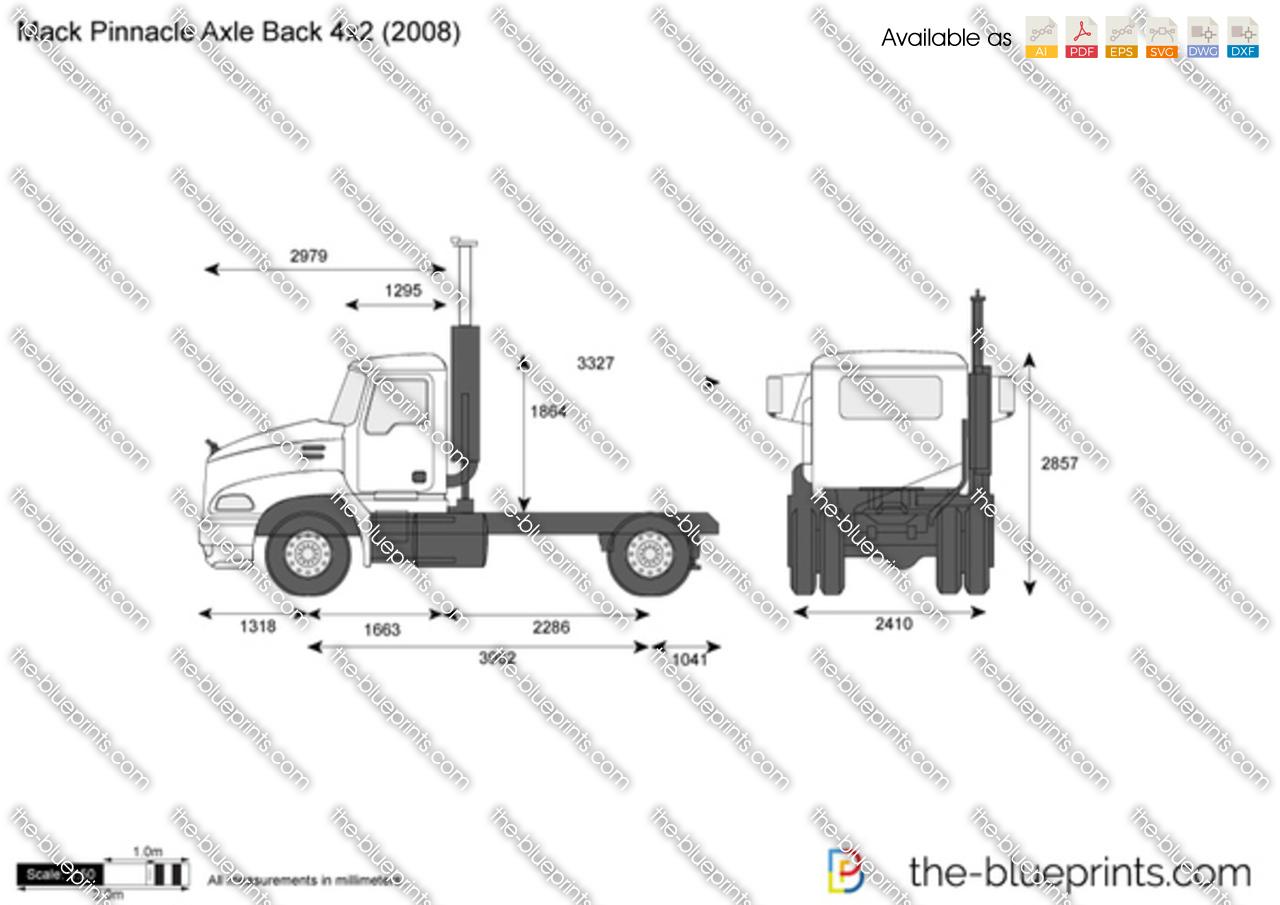 Mack Pinnacle Axle Back 4x2