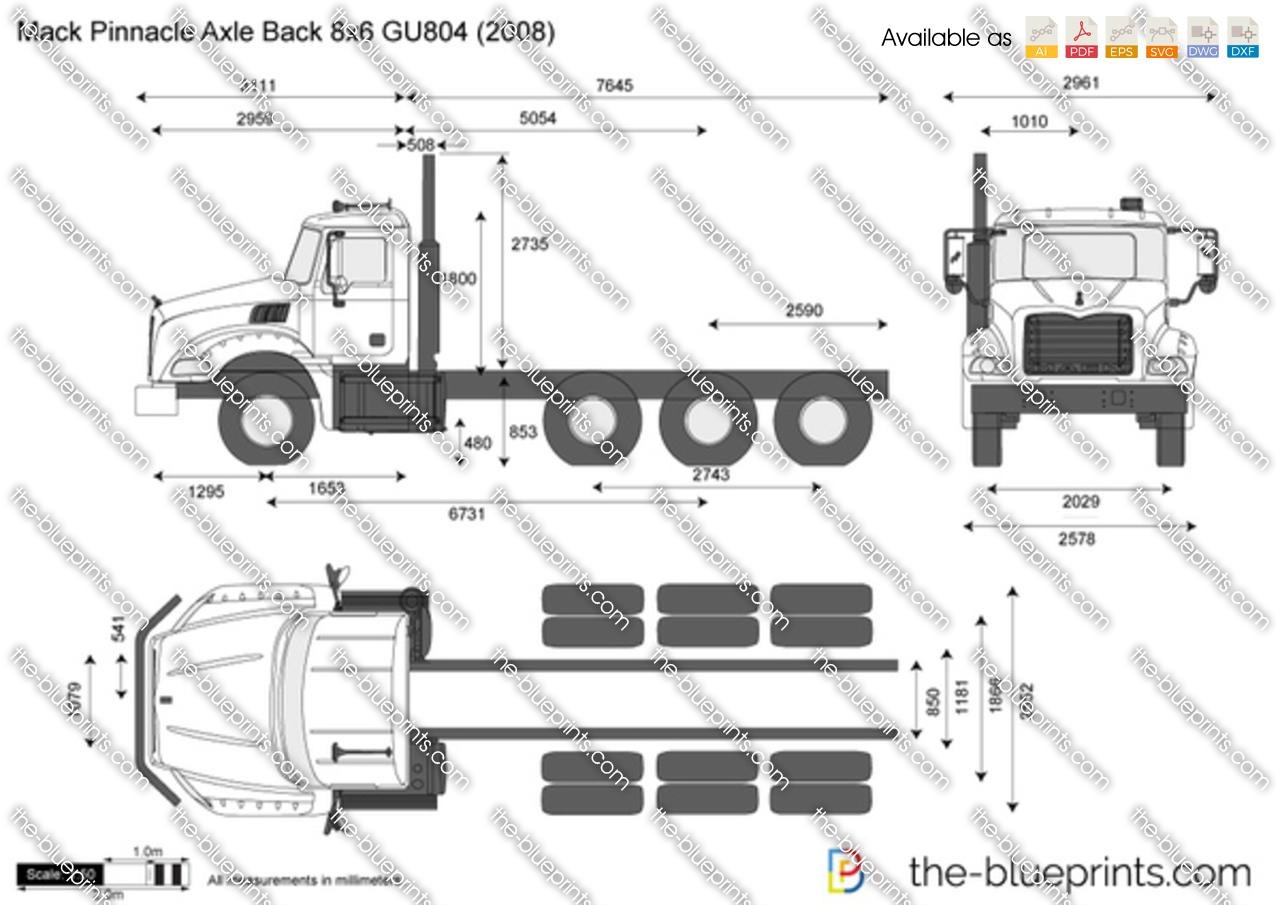 Mack Pinnacle Axle Back 8x6 GU804