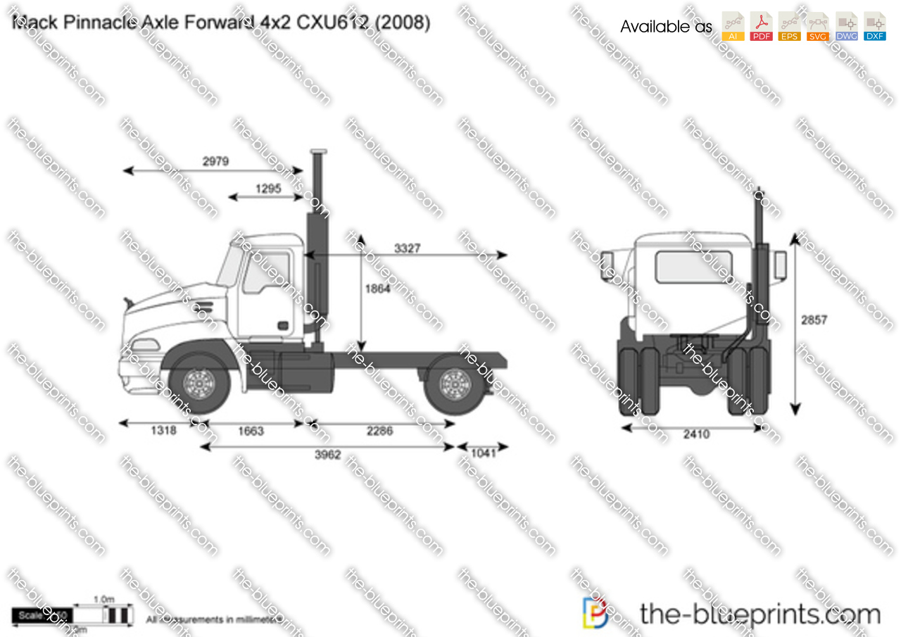 Mack Pinnacle Axle Forward 4x2 CXU612