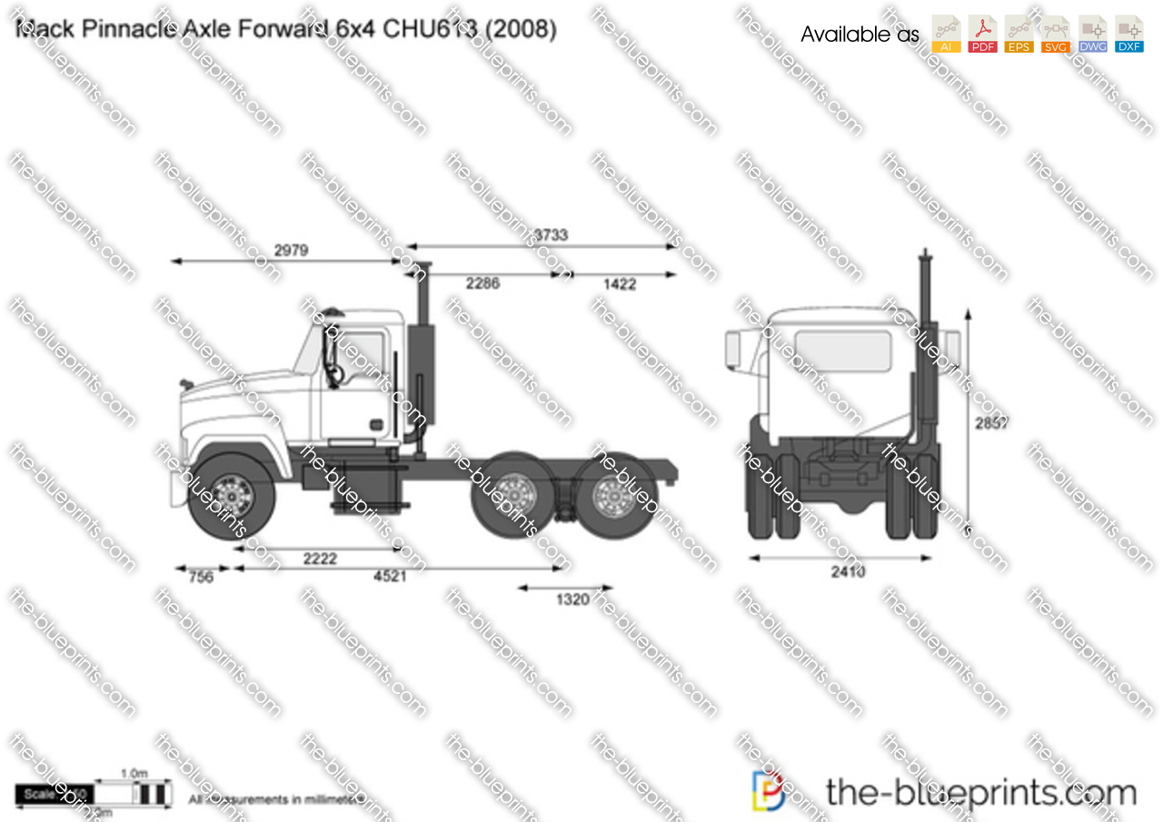 Mack Pinnacle Axle Forward 6x4 CHU613