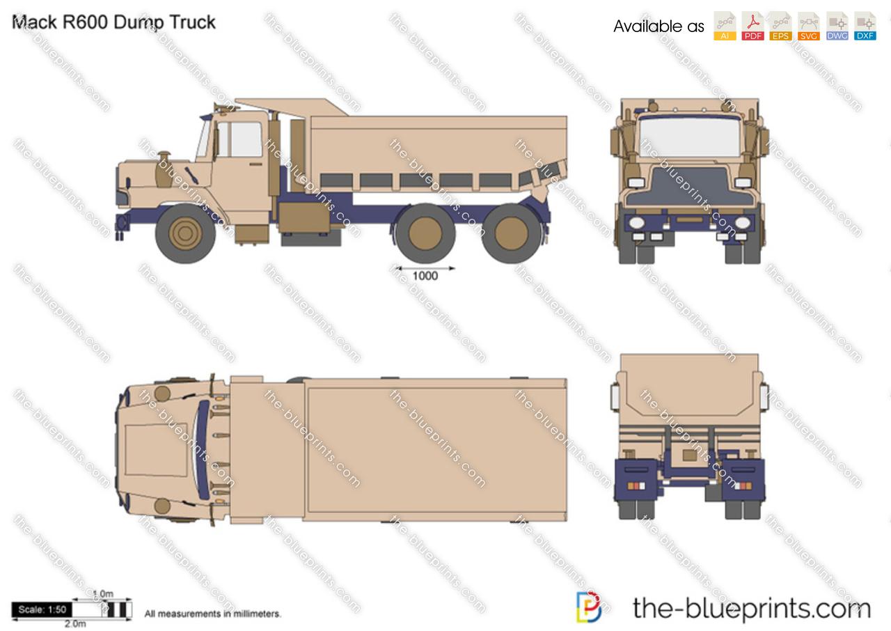 Mack R600 Dump Truck