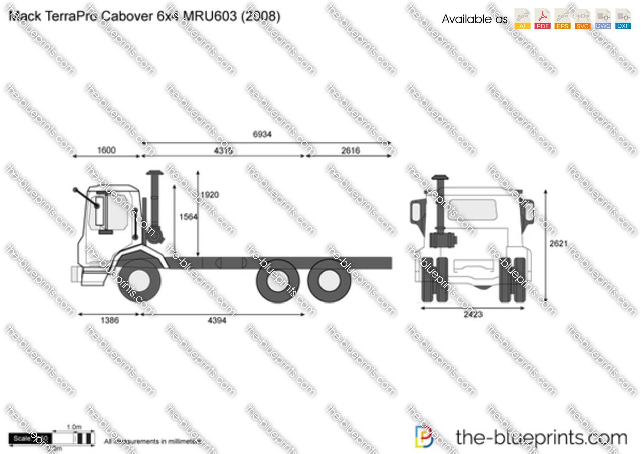 Mack TerraPro Cabover 6x4 MRU603
