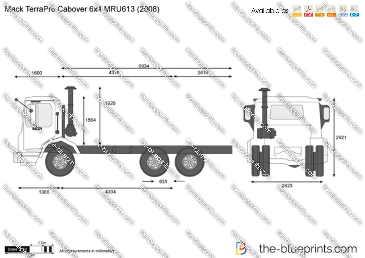 Mack TerraPro Cabover 6x4 MRU613