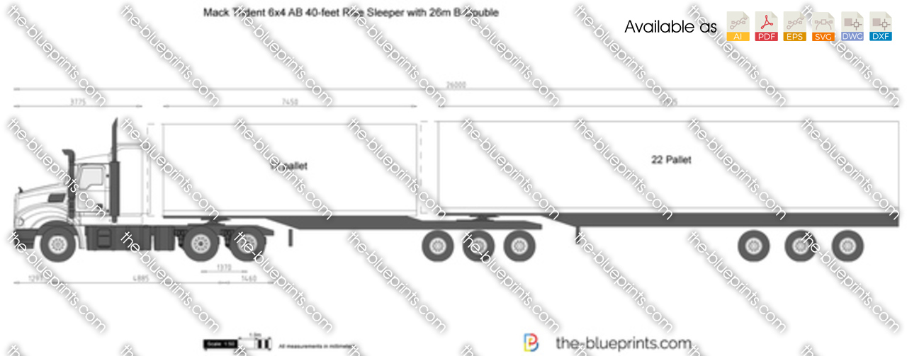 Mack Trident 6x4 AB 40-feet Rise Sleeper with 26m B-Double