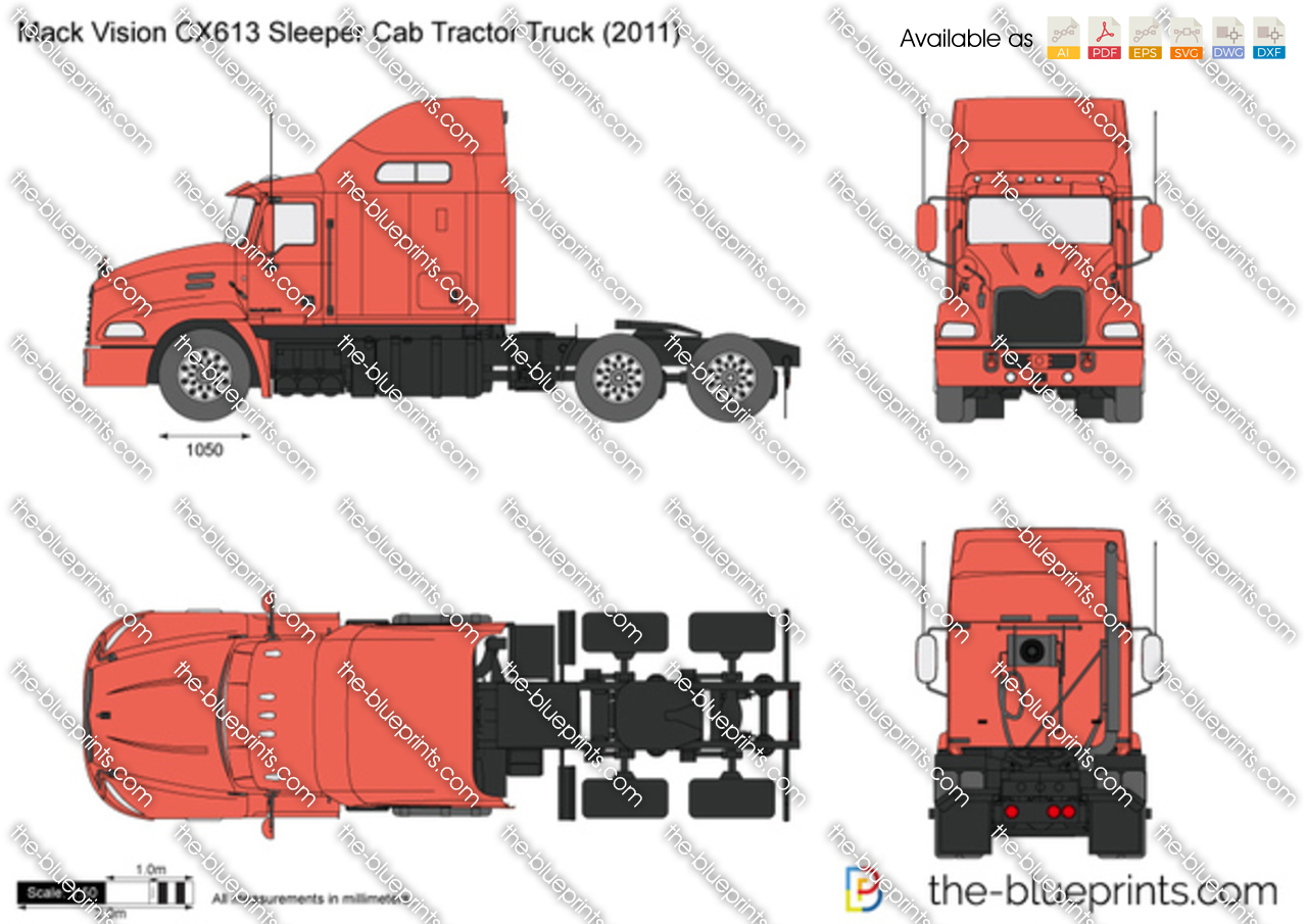 Mack Vision CX613 Sleeper Cab Tractor Truck