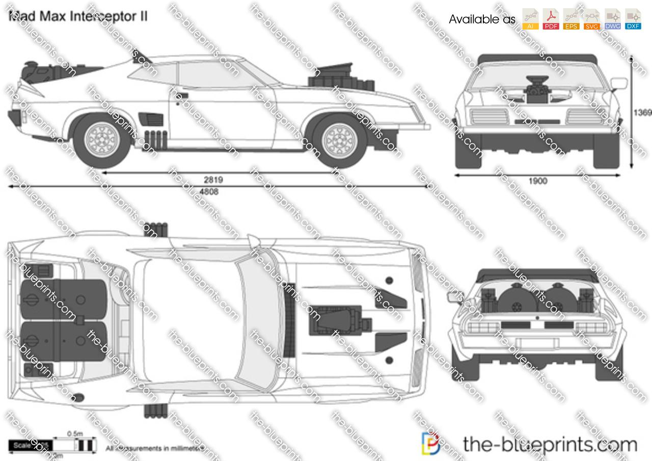 The Blueprints Com Vector Drawing Mad Max Interceptor Ii