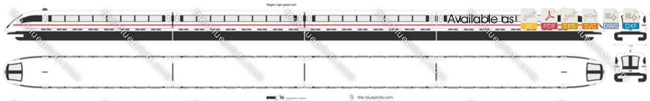 Maglev high speed train