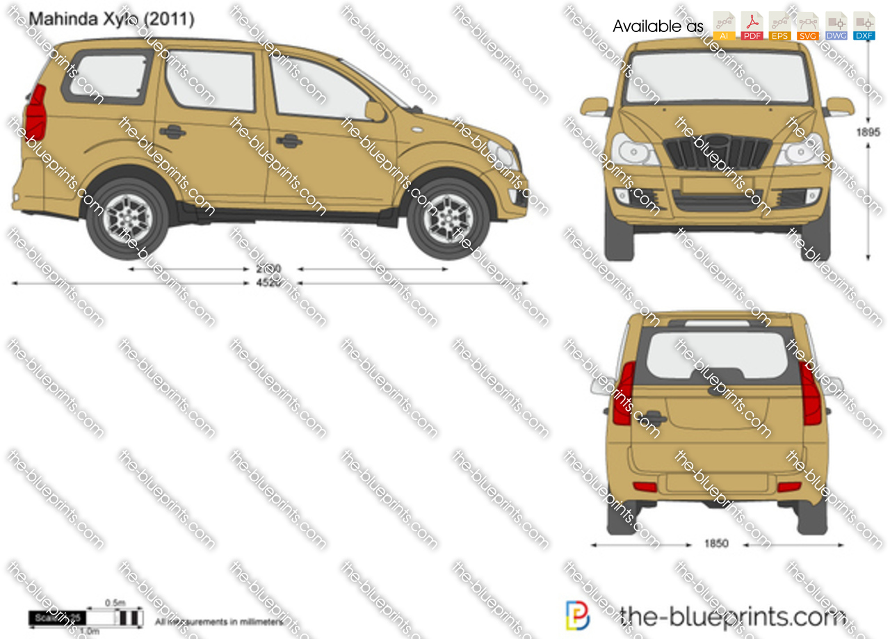 Mahindra Xylo Vector Drawing