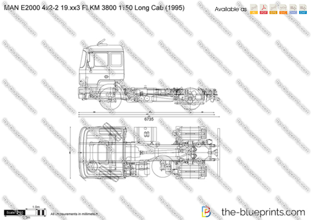 MAN E2000 4x2-2 19.xx3 FLKM 3800 1150 Long Cab