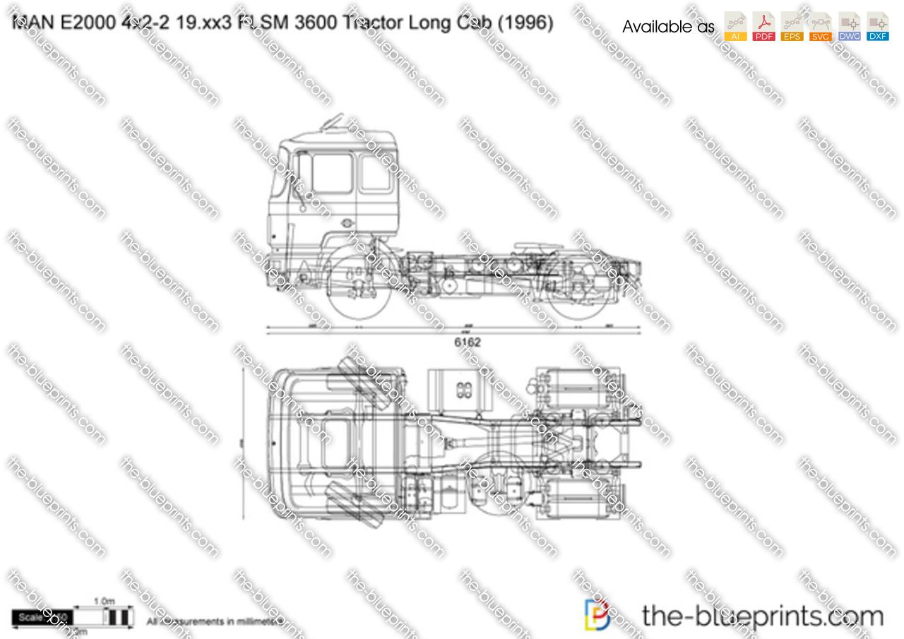 MAN E2000 4x2-2 19.xx3 FLSM 3600 Tractor Long Cab