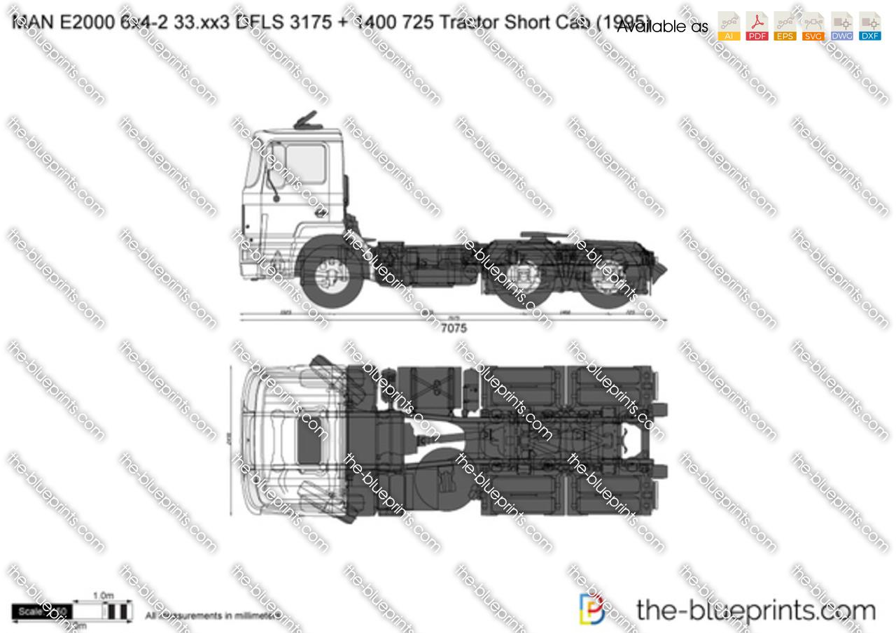 MAN E2000 6x4-2 33.xx3 DFLS 3175 + 1400 725 Tractor Short Cab