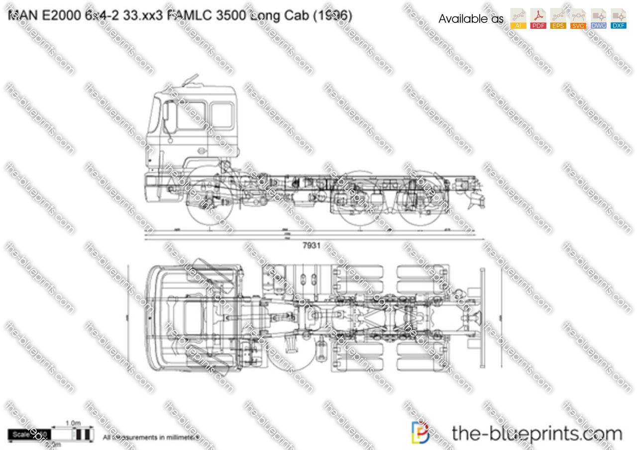 MAN E2000 6x4-2 33.xx3 FAMLC 3500 Long Cab