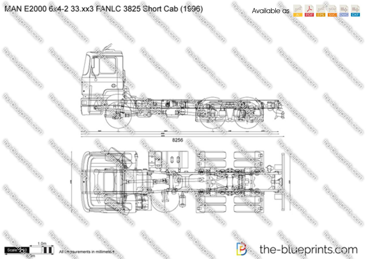 MAN E2000 6x4-2 33.xx3 FANLC 3825 Short Cab