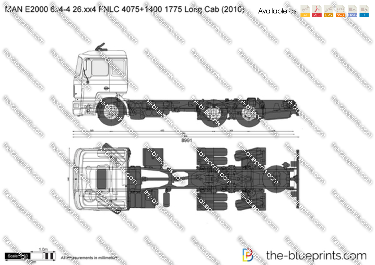 MAN E2000 6x4-4 26.xx4 FNLC 4075+1400 1775 Long Cab