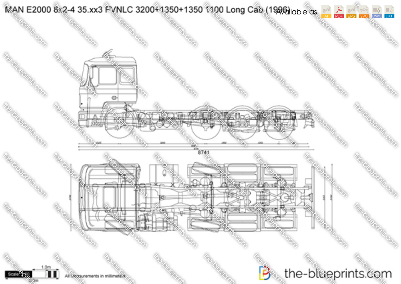 MAN E2000 8x2-4 35.xx3 FVNLC 3200+1350+1350 1100 Long Cab