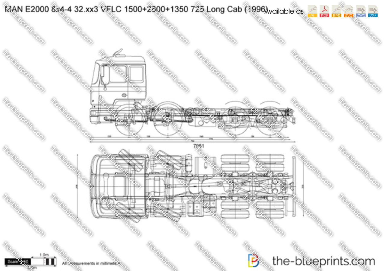 MAN E2000 8x4-4 32.xx3 VFLC 1500+2600+1350 725 Long Cab
