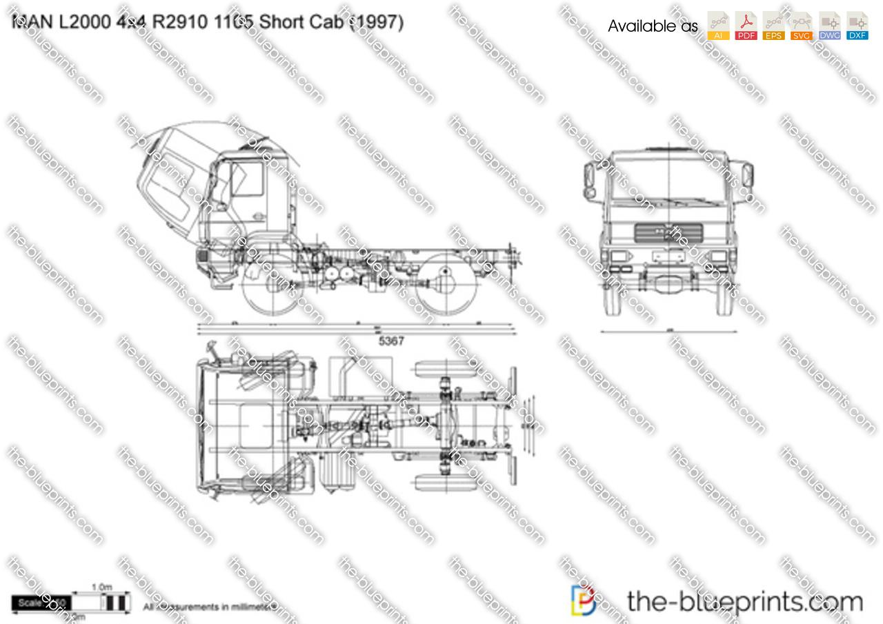 MAN L2000 4x4 R2910 1105 Short Cab