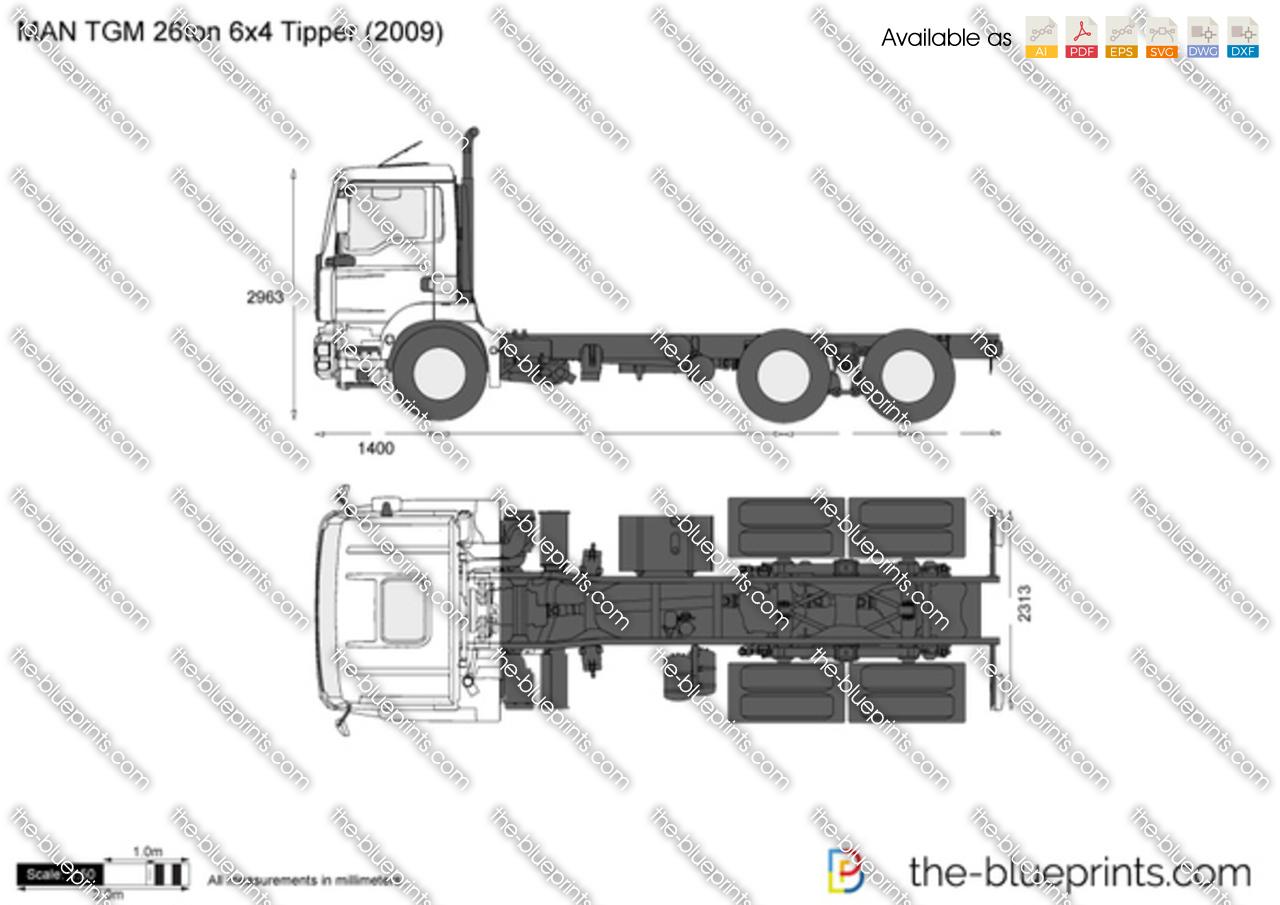 MAN TGM 26ton 6x4 Tipper