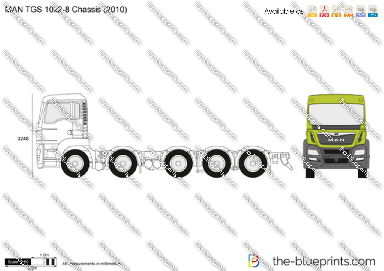 MAN TGS 10x2-8 Chassis