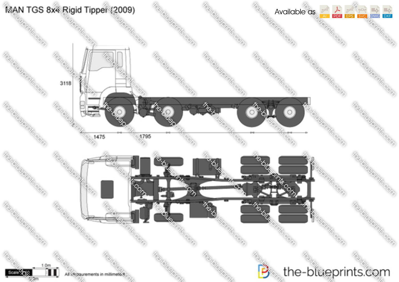 MAN TGS 8x4 Rigid Tipper