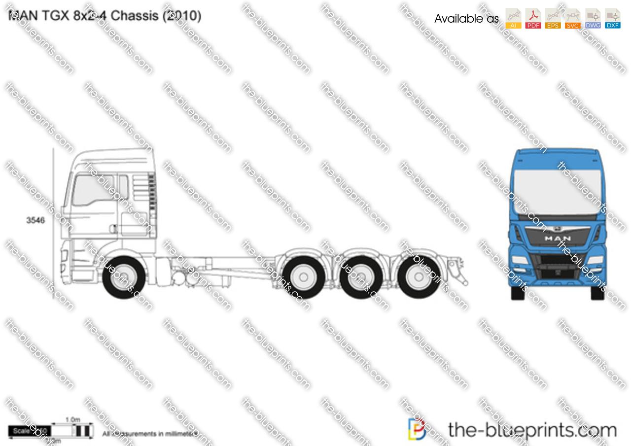 MAN TGX 8x2-4 Chassis